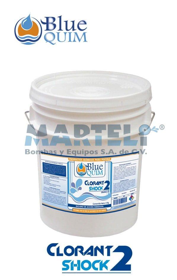 Químico para piscina Clorant2 shock de Blue Quim